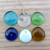 Glass Drop Necklace Surfer Beach Boho Chic