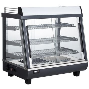"""Commercial Countertop Slanted Heated Display Case Food Warmer 27"""""""