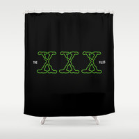 The XXX File Shower Curtain by Tony Vazquez