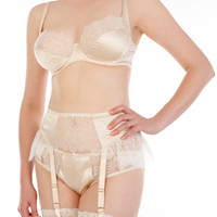Eleanor Almond Suspender Belt