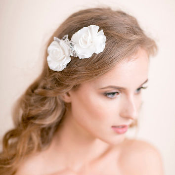 Wedding Hair Pins Gardenia - Bridal Hair Pins - Flower Hair Pins - Set of 2 - Bridal Hair Accessories, Wedding Hair Accessories