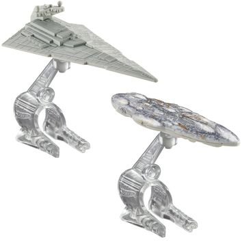 Hot Wheels Star Wars Starship Star Destroyer vs. Mon Calamari Cruiser Vehicle 2-Pack