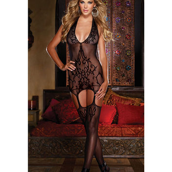 Cute Hot Deal On Sale Sexy Home Socks Lace Black Spaghetti Strap Exotic Lingerie [6596714627]