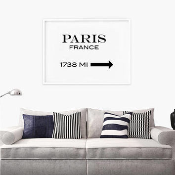 Paris Print, Paris France Print, France Print, Fashion Print, City Print, Fashion Wall Art, Bedroom Wall Art, Typography Print, Live Room