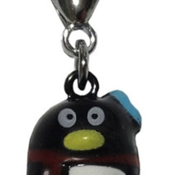 Hand Painted Christmas Bell Charm Penguin
