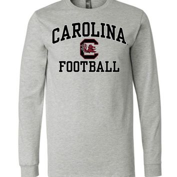 Official NCAA University of South Carolina Fighting Gamecocks USC COCKY SC Football Long Sleeve T-Shirt - SC004