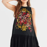 UO Caraline Drop-Waist Tunic Top | Urban Outfitters