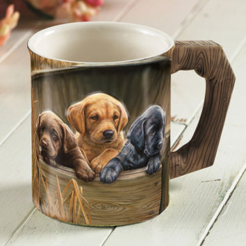 All Hands on Deck - Labs Coffee Mug by Rosemary Millette | Wild Wings