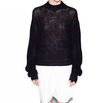 Acne Studios Pamela Navy-Black Mohair Sweater