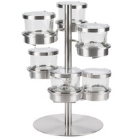 15W x 15D x 17.25H SWVL 6 Tier Jar Holder with SS Hinged Lid 32 Oz Jars