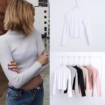 Long Sleeve Bottoming Shirt [31067930650]