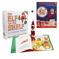 """The Elf on the Shelf: A Christmas Tradition with Brown Eyed North Pole Pixie-elf with Bonus Official """"An Elf's Story"""" Elf on the Shelf Coloring Book"""