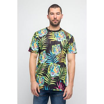 Colorful Floral Tiger T-Shirt
