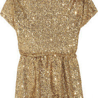 Alice + Olivia | Barret sequined stretch-mesh top | NET-A-PORTER.COM