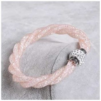 Rope Bracelet a Wire Mesh with Tiny Crystal loaded to form a Halo