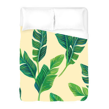 Falling Palms Duvet Cover