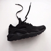 New Custom Triple All Black Huaraches