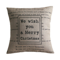 We Wish You a Merry Christmas Cushion