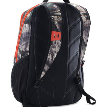 Under Armour Unisex Camo Hustle Backpack Mossy Oak Treestand/Dynamite