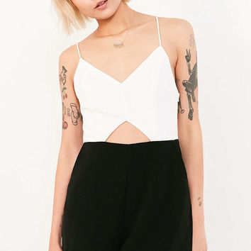 Silence + Noise Strappy Cutout Colorblock Romper - Urban Outfitters