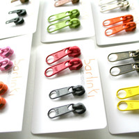 2 pairs of zipper earrings, special offer on zipper earrings, minimalist, industrial, gift idea for him and for her