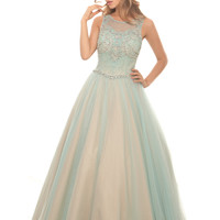 Eleni Elias P468 Beaded Tulle Ball Gown Prom or Mother of Bride Dress