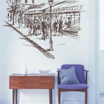 ik2688 Wall Decal Sticker France Paris street city hall bedroom