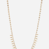 DailyLook: Spiked Rhinestone Necklace