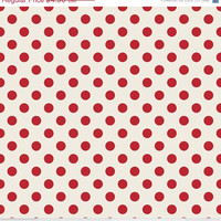 25 % off Polka Dot, Cream Red from Riley Blake, Flutter Cotton Fabric, 1/2 Yard