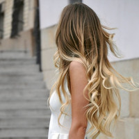 """Ombre Ombre Hair, Ombre Tape Hair Extensions/Dark Blonde Medium Blond Hair Extensions/(60) Pieces/18"""""""