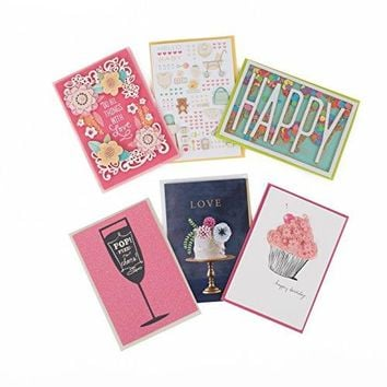 Hallmark Signature All Occasion Card Assortment with Lucite Organizer, 6 Greetings Cards - Free Shipping