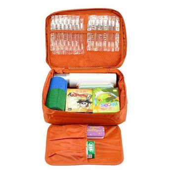 ONETOW Free Shipping Orange Outdoor Travel First Aid Kit Bag Home Small Medical Box Emergency Survival kit Treatment Outdoor Camping