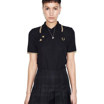 Fred Perry - Bella Freud Tartan Skirt Black