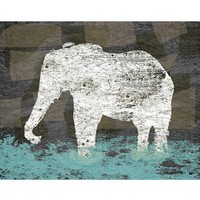 Green Leaf Art 'Vintage Elephant II' Wall Art