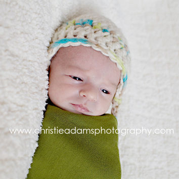 Newborn Hats Boys Crocheted Newborn Hat Newborn by knoodleknits
