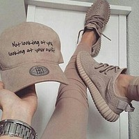 "shosouvenir""Adidas"" Women Yeezy Boost Sneakers Running Sports Shoes"
