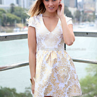 GOLD FOIL 2.0 DRESS , DRESSES, TOPS, BOTTOMS, JACKETS & JUMPERS, ACCESSORIES, 50% OFF SALE, PRE ORDER, NEW ARRIVALS, PLAYSUIT, GIFT VOUCHER, Australia, Queensland, Brisbane