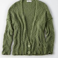 Button Front Cardi, Olive