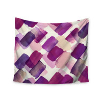 "Ebi Emporium ""Strokes Of Genius 6, Wine"" Purple lavender Wall Tapestry"