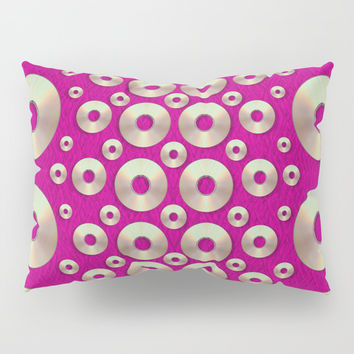 Going gold or metal on fern pop art Pillow Sham by Pepita Selles
