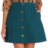 Back to Scholastic Skirt in Teal | Mod Retro Vintage Skirts | ModCloth.com