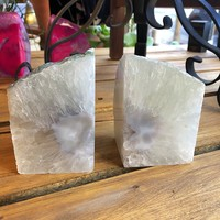 SATIN CRYSTAL BOOKENDS SET OF 2 - GEO CENTRAL