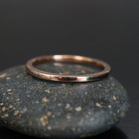 Simple Plain Wedding Band 14k Rose Gold- Stackable with any of our Engagement Rings (Also Available in White and Yellow Gold)