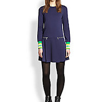 Marc by Marc Jacobs - Jayden Pleated-Skirt Knit Dress - Saks Fifth Avenue Mobile