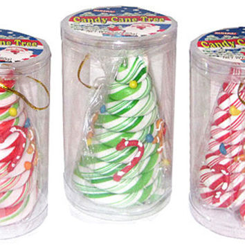 Candy Cane Tree Ornament Set
