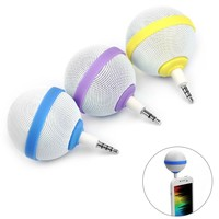 E-PRANCE New arrival Cute Ball Style Portable 3.5mm Audio Mini Audio Speaker For Cell phone FM Radio Tablet Purple