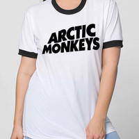Arctic Monkey Silkscreen American Apparel Women's Unisex T-shirts