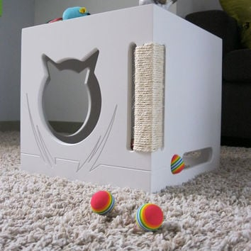 Cat Furniture - Cat Cave - Version 4 - Cat Bed -  Furniture - Cat Beds - Cat Scratcher- Side table