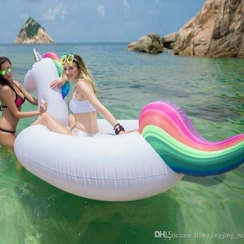 Inflatable Floats Unicorn Flamingo Pool Toys Inflatable Giant Swan Swimming Pool Ride-on Floats