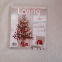 Martha Stewart Living December 2004 Holiday Tree with Red Ornaments